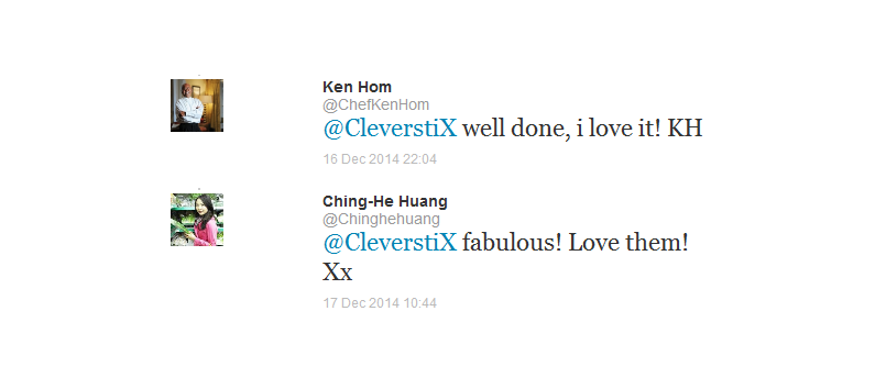 Celebrity Chefs tweet their love for CleverstiX!