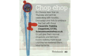 CleverstiX in the Sunday Mirror Notebook Magazine