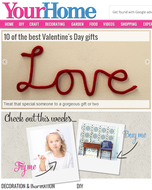 Your Home hompage - CleverstiX as 'Try Me' Product of the Week