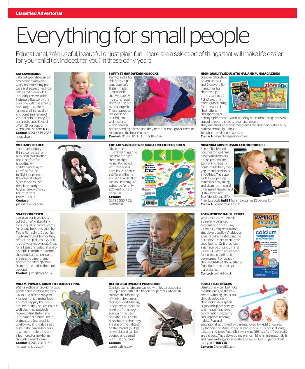 Independent Newspaper Parent section with CleverstiX