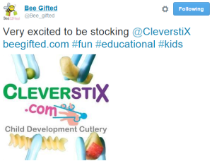 Bee Gifted CleverstiX tweet