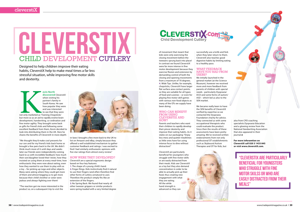 Tradepoint magazine CleverstiX article Jan 2016
