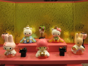 Hello Kitty Hinamatsuri display