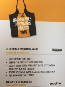 Housewares Innovation Awards 2016 Finalists - Spring Fair Kitchenware Innovation
