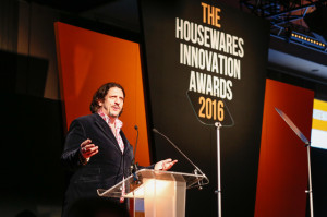 Jay Rayner presenting the Housewares Innovation Awards 2016
