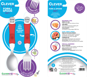 Clever Fork & Spoon set packaging
