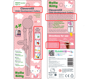 CleverstiX Child Development Cutlery - packaging concept: HELLO KITTY