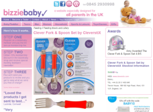 BizzieBaby Silver Award Product Review: Clever Fork & Spoon Set by CleverstiX.com