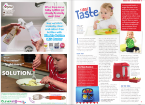 Clever Fork & Spoon Set Advertisement page, pages 108-109 of Progressive Preschool Magazine: Issue 25 SEPT/OCT 2016