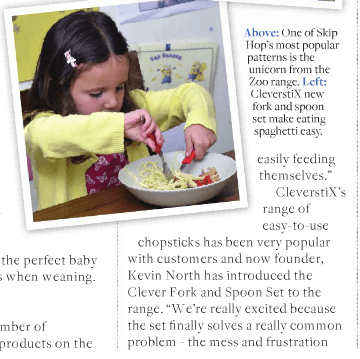 Clever Fork & Spoon Set - Feeding & Weaning, page 111 of Progressive Preschool Magazine: Issue 25 SEPT/OCT 2016