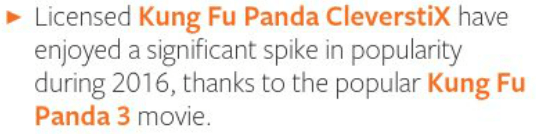 Kung Fu Panda 3 CleverstiX,, LICENSING LOOKOUT page 11 of Progressive Preschool Magazine: Issue 25 SEPT/OCT 2016