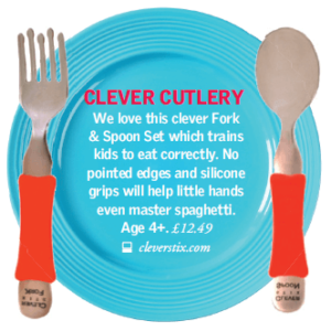 Angels & Urchins Clever Fork & Spoon Set, Winter 2016