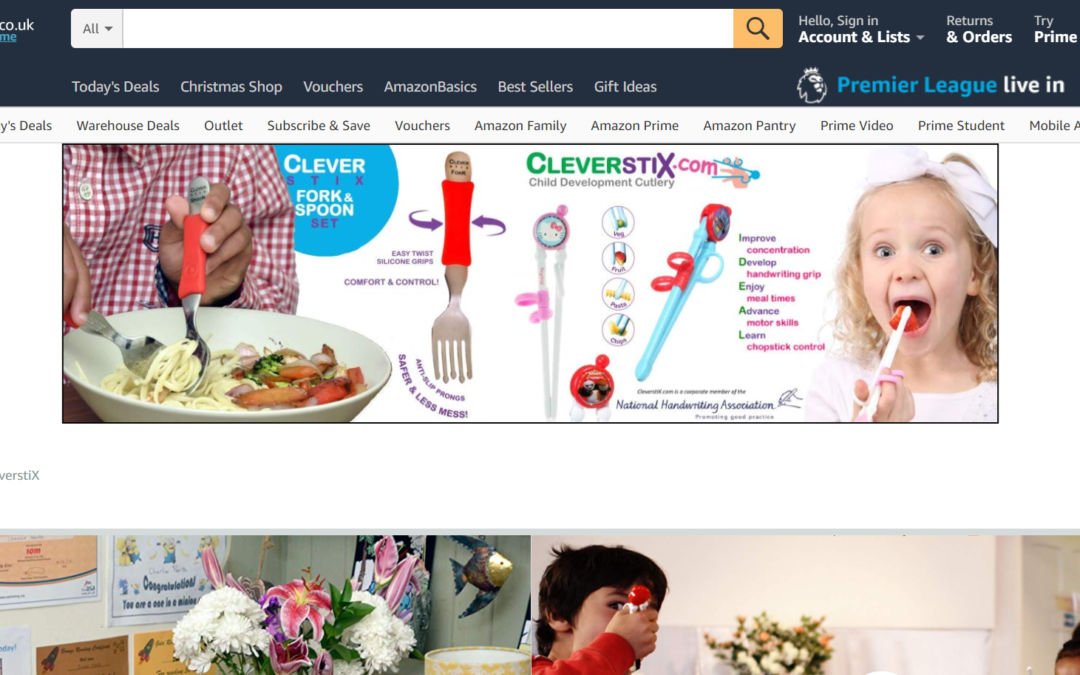 CleverstiX.com Amazon Store Page Header